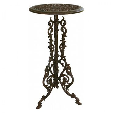 Antique round garden tables in brown of cast iron  – image 1