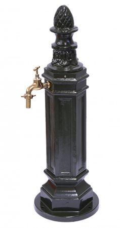 Antique style faucet floor pillar decorative fountains made of aluminum as decorative for garden
