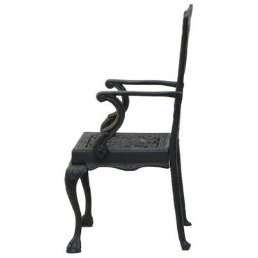Black doll chair as decoration made with cast iron for home garden – image 3