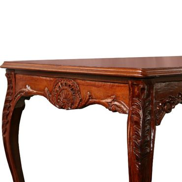 Beautiful Mahogany Dining Room Table Baroque Design  – image 1