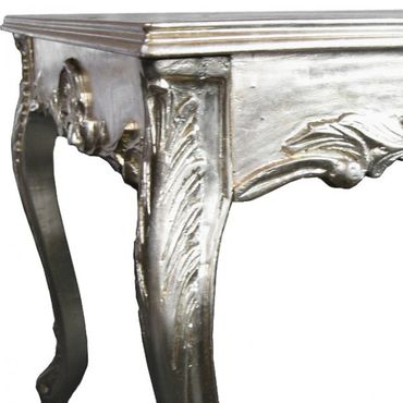 Silver Antique Baroque Dining Room Table 80x80cm – image 2