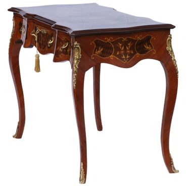 Baroque Retro Table with Drawers Solid Wood Hand Sculpted – image 2