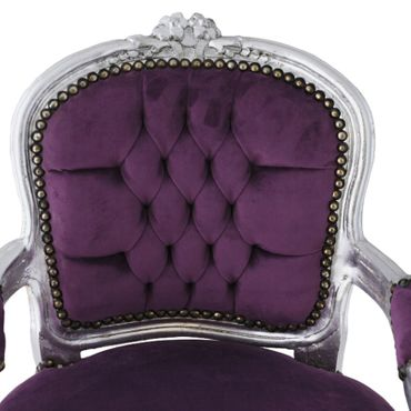 Girls bedroom, silver-leafed girls chair in purple a must have for every princess! – image 5
