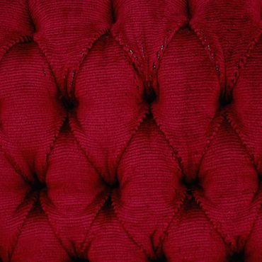 Beautiful Brown Wood Red Velvet Chairs set of 6 Baroque Furniture – image 5