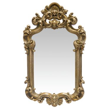Beautiful Gold Framed Mirror with Extravagant Decoration Baroque Home Decor – image 1