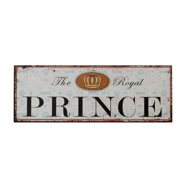 Decoration sign wall tin The Royal Prince boy birth present 5.1x14.2in