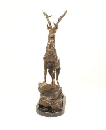 Antique Style Deer Bronze Figure Home Decor Elegance – image 2
