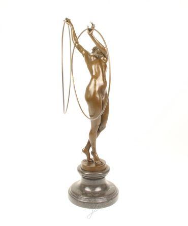 Beautiful Bronze Woman with Hoop  Figure Art Home Decoration Bronze  – image 3