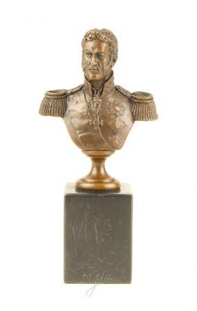 Bust of Golden General in Bronze Elegant Home Décor – image 1