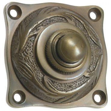 Bell  Art Nouveau brass patinated doorbell doorstep apartment – image 3