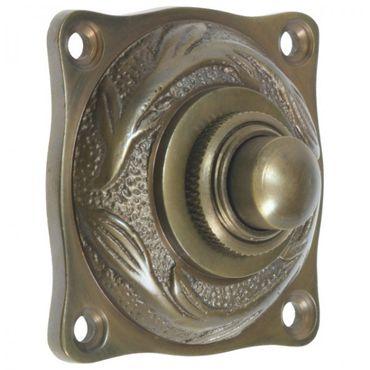Bell  Art Nouveau brass patinated doorbell doorstep apartment – image 2