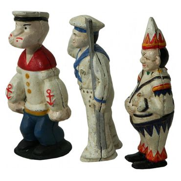 3 Sailors Set Moneybox Cast Iron Seaman Sea Decoration – image 4