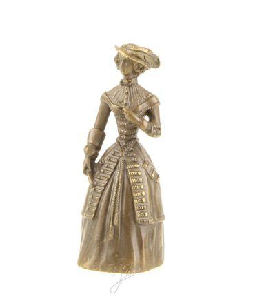 Beautiful Woman in Bronze Old Dress & Hat – image 1