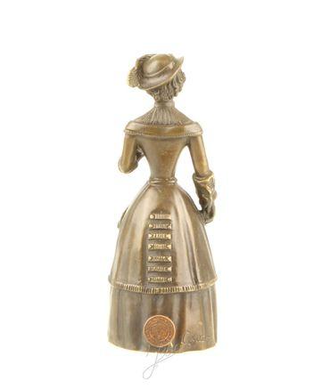 Beautiful Woman in Bronze Old Dress & Hat – image 2