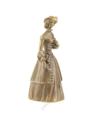 Beautiful Woman in Bronze Old Dress & Hat – image 3