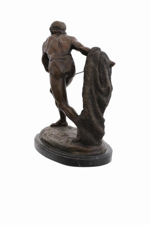 Gladiator Bronze Statue Tony Fort fighters Muscle Man Casting Lost-Wax War – image 4