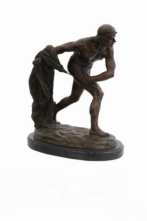 Gladiator Bronze Statue Tony Fort fighters Muscle Man Casting Lost-Wax War – image 1
