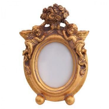 Baby picture frame antique design high quality oval frame gold elegant antique look shiny – image 1