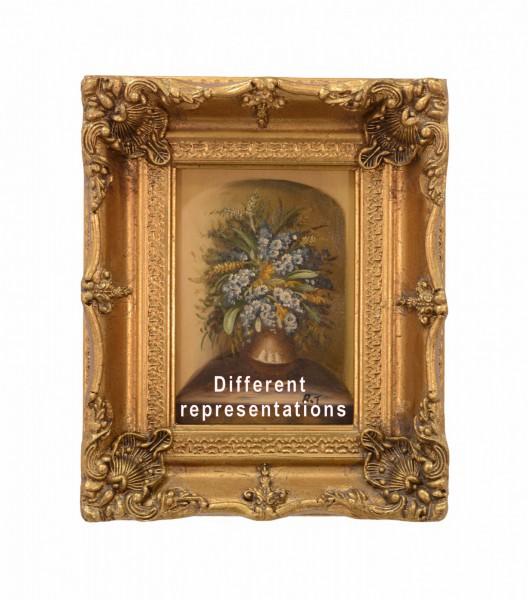 bilderrahmen holz resin lgem lde gold dekoration wandgem lde blumen topf. Black Bedroom Furniture Sets. Home Design Ideas