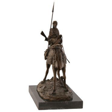 Arab Bedouin on camel bronze sculpture bronze statue warrior with spear – image 2