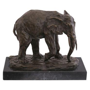 African Elephant Animal Representation bronze sculpture sculpture elephant statue garden – image 1