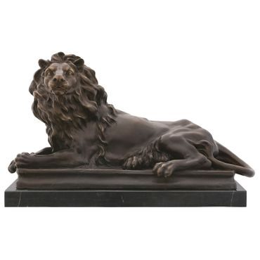 Big Guardian lion monumental bronze statue for decoration – image 1