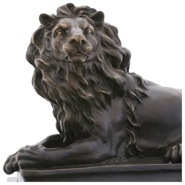 Big Guardian lion monumental bronze statue for decoration – image 5
