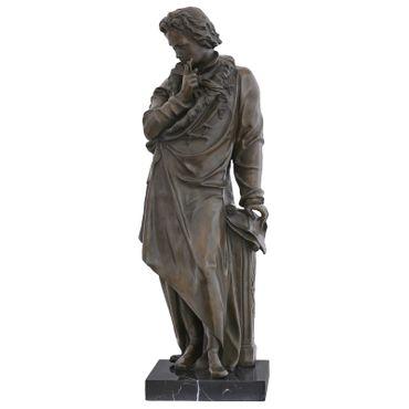 Beethoven bronze statue man music room decoration pianist Sculpture – image 1