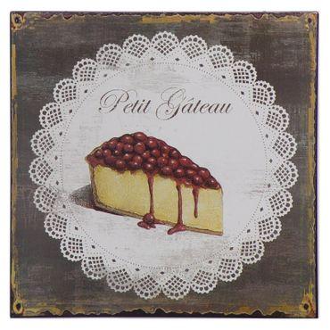 Cake tin sign PETIT GATEAU bakery wall decoration