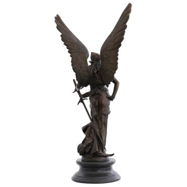 Angels woman warrior bronze sculpture great angel in the fight Garden Figure – image 3