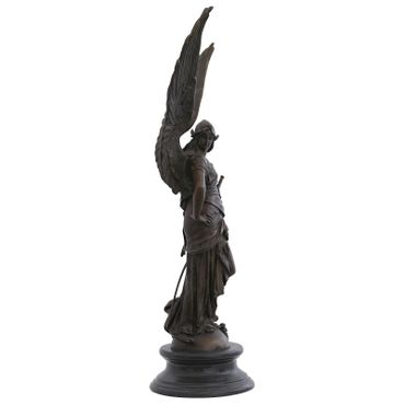 Angels woman warrior bronze sculpture great angel in the fight Garden Figure – image 4