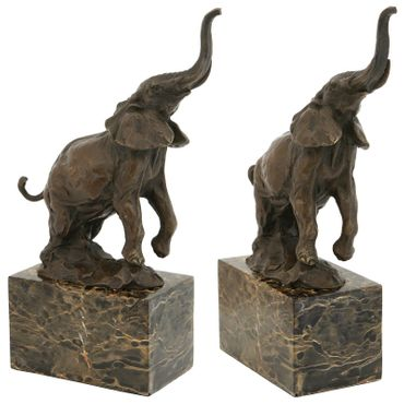 African elephant trumpeting in Pose bronze statue for decor as animal sculpture – image 3