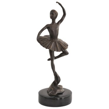 Dancing Ballerina in Tutu Élégante Woman in Bronze – image 1