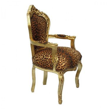 Leopard print carver dining chair for your dining table – image 2
