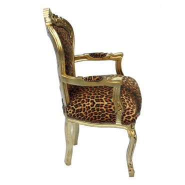 Leopard print carver dining chair for your dining table – image 4