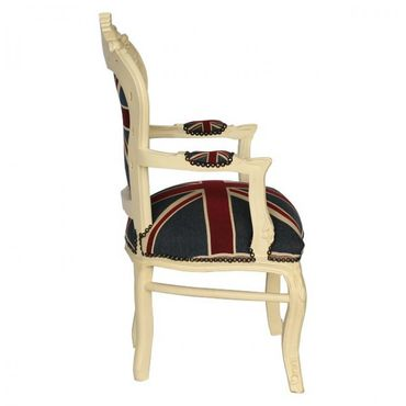 Dining chair in baroque style with Jack union flag – image 3