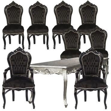 Möbel im Barockstil Esszimmer Sonderangebot 9 teilig Stühle Tisch Packet Preis – Bild 1