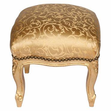 Baroque Furniture Gold Foot Stool Living Room Bedroom  – image 1