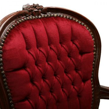 Mahogany bedroom chairs French Louis style salon – image 4