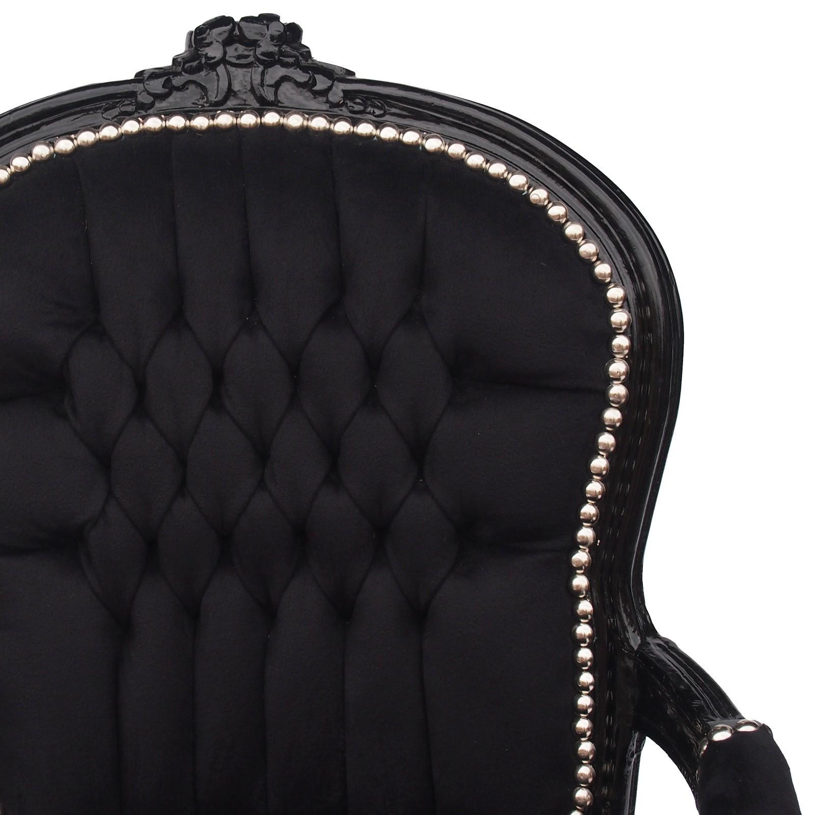 inneneinrichtung barock stuhl sessel antik m bel schwarz gothic gothik ebay. Black Bedroom Furniture Sets. Home Design Ideas