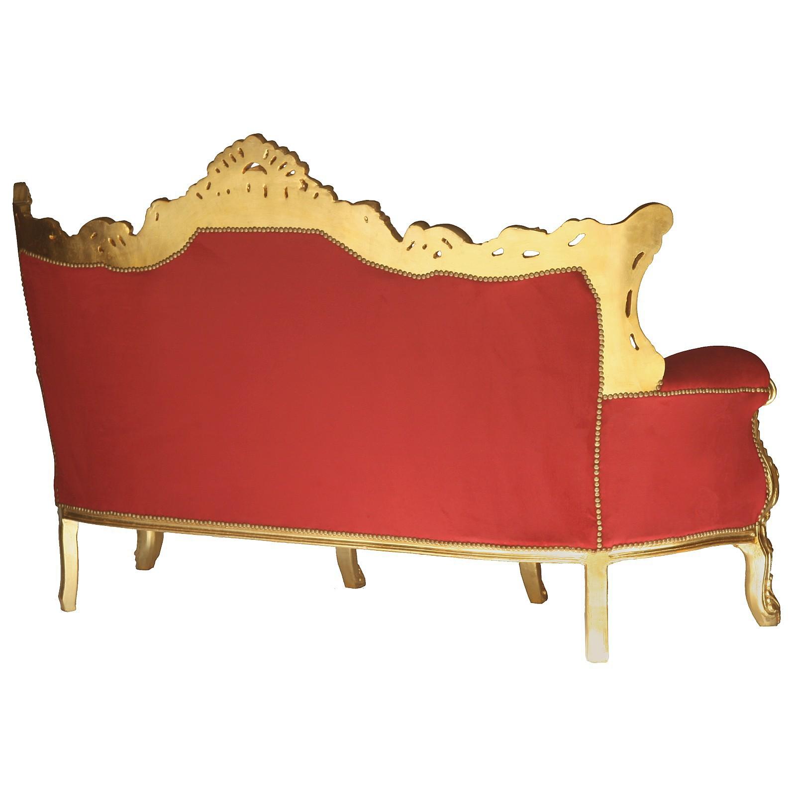 opulentes gold barock sofa k niglicher vintage style. Black Bedroom Furniture Sets. Home Design Ideas