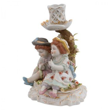 2 pairs porcelain candle holder figure 2 piece set tree – image 2