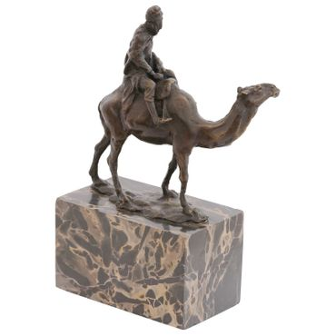 Bronze Figure of Man in the Desert on a Camel – image 3