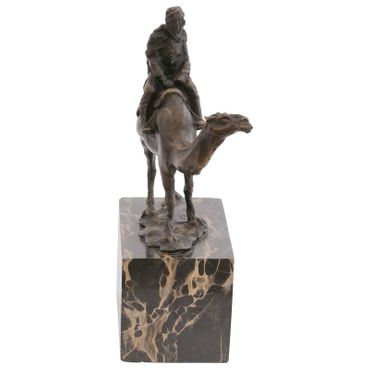 Bronze Figure of Man in the Desert on a Camel – image 4