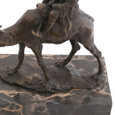 Bronze Figure of Man in the Desert on a Camel – image 5
