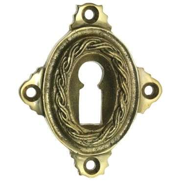 Polished ward lock brass available in patinized brass – image 1