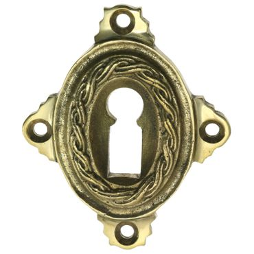 Polished ward lock brass available in patinized brass – image 2