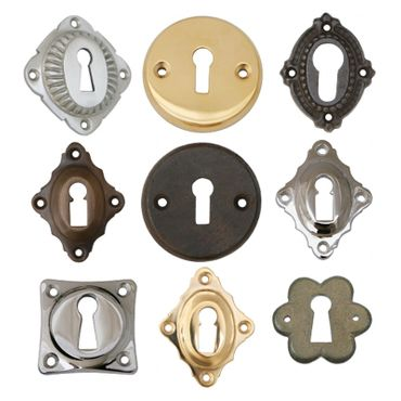Polished ward lock brass available in patinized brass – image 4
