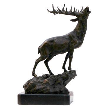 Bronze sculpture buck stag buck collectable marble bronze art ornament figure – image 1