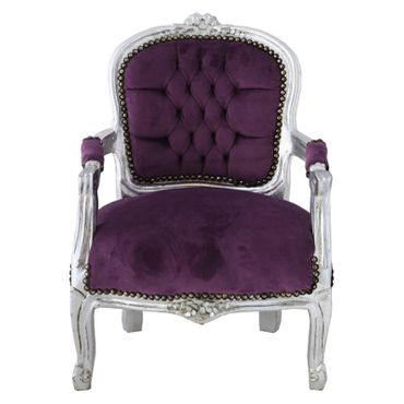 Girls bedroom, silver-leafed girls chair in purple a must have for every princess! – image 1